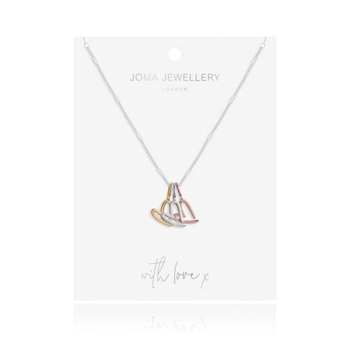 Joma Jewellery Florence Outline Heart Necklace