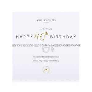 Joma Jewellery A Little Happy 40th Birthday Bracelet