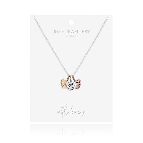 Joma Jewellery Florence Hammered Heart Necklace