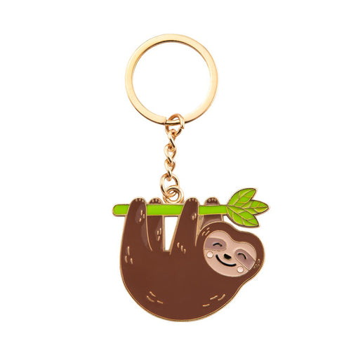 Sass and Belle Happy Sloth Enamel Keyring