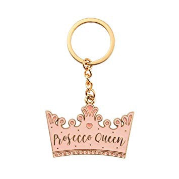 Sass and Belle Prosecco Queen Enamel Keyring