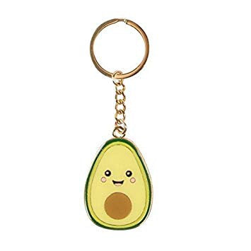 Sass and Belle Happy Avocado Enamel Keyring