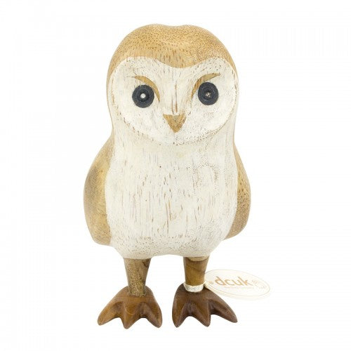 DCUK Natural Finish Barn Owl- Forward Facing