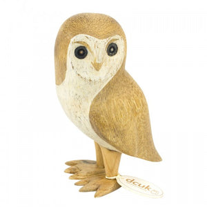 DCUK Natural Finish Barn Owl- Left Facing