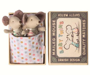 Maileg Baby Twin Mice in a Matchbox