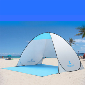 Anti-UV Beach Tent White and Blue. Tent on Beach for easy assembly. & Anti-UV Beach Tent | Shop Travel Essentials u2013 Cozy Goats