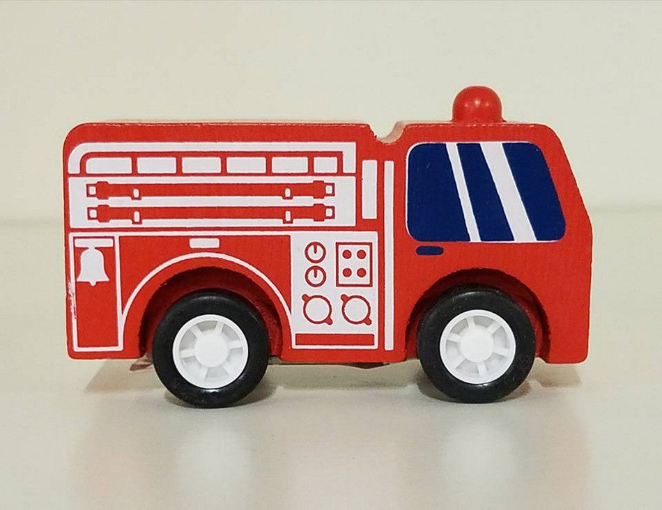 Manhattan Toy Co. Pull-Back Rescuers - Fire Truck