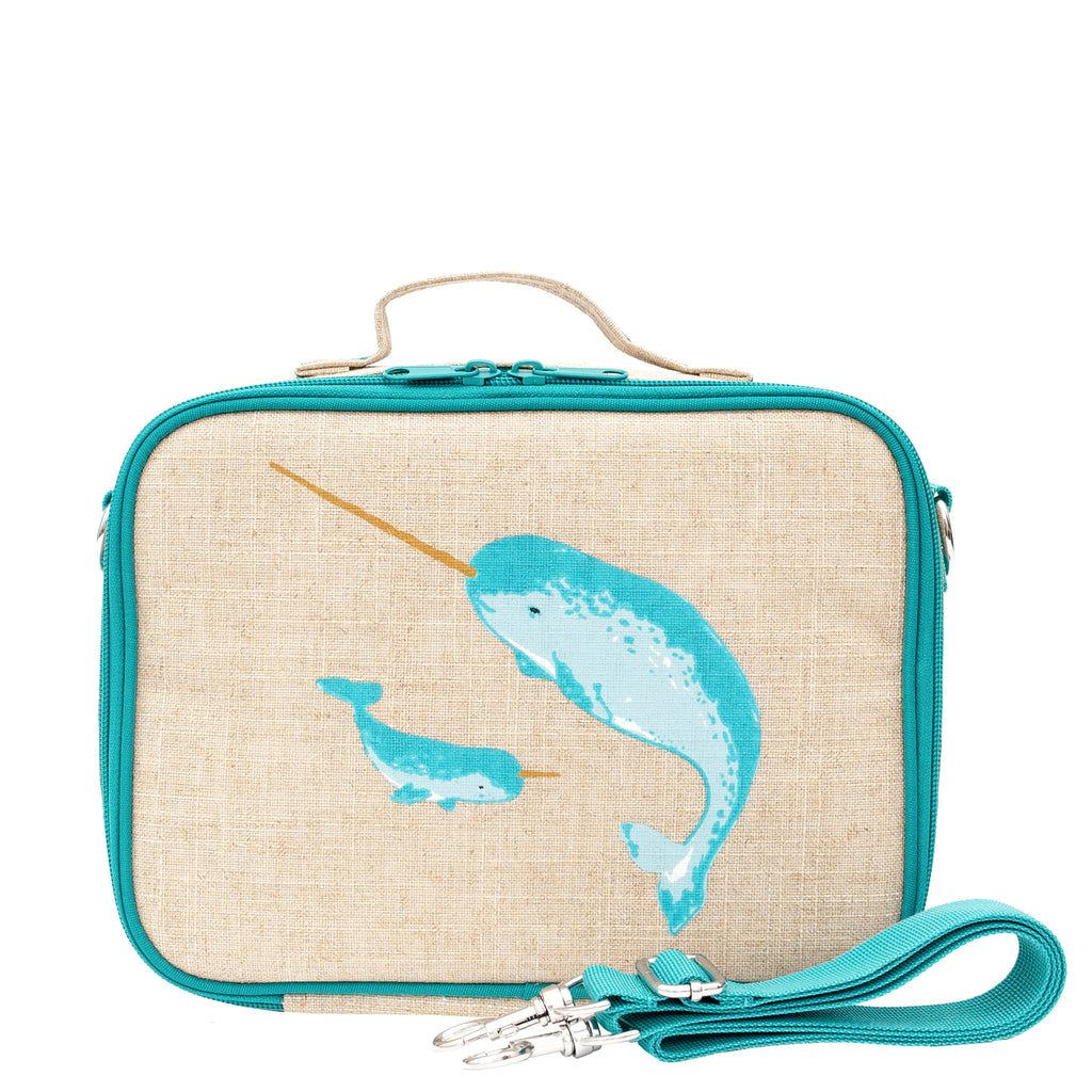 SoYoung - Teal Narwhal Lunch Box for Kids