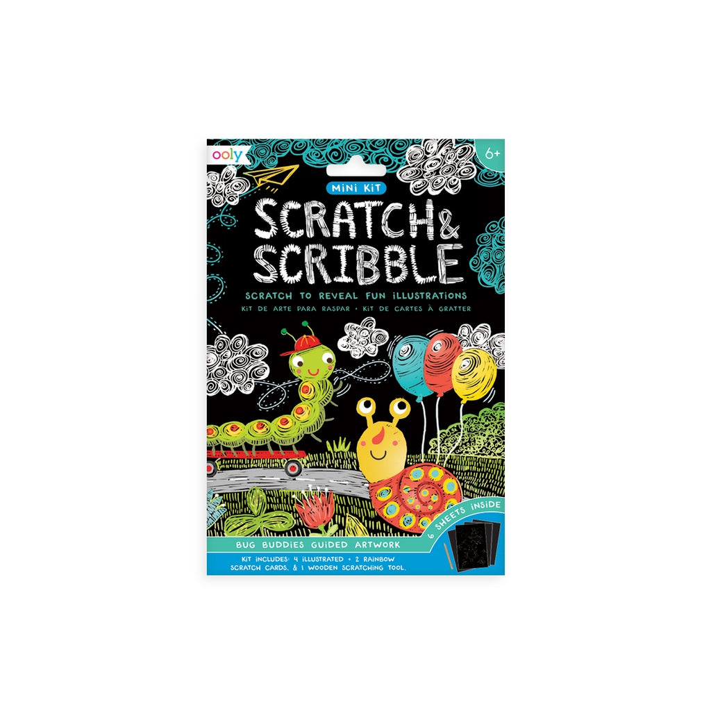 Ooly Mini Scratch & Scribble Art Kit - Bugs
