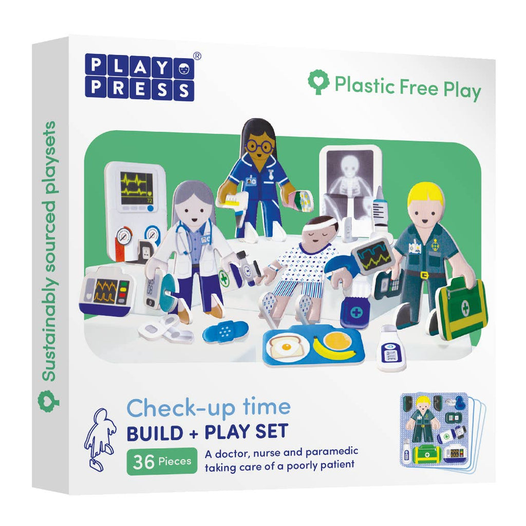 PlayPress Check-up Time Pop-out Play Set