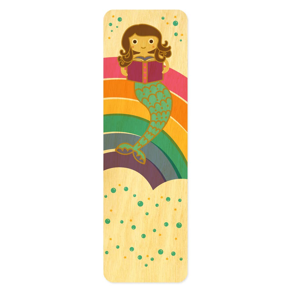 Night Owl Paper Goods - Reading Mermaid Bookmark