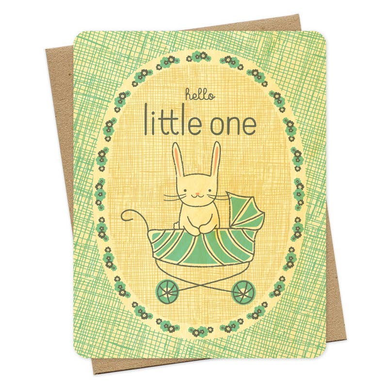 Night Owl Paper Goods - Little Bun Wood Congratulations Card
