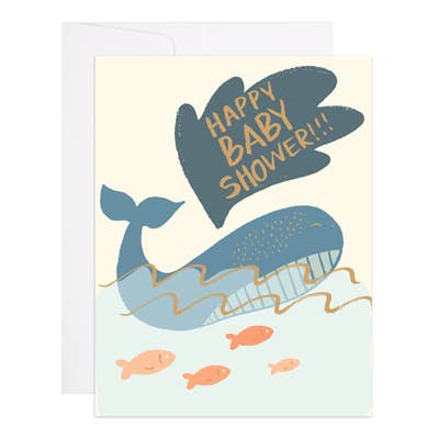 9th Letter Press - Whale Baby Shower