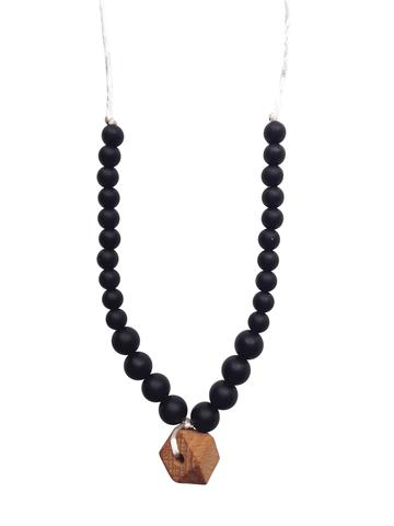 Chewable Charm - The Collins - Black Teething Necklace