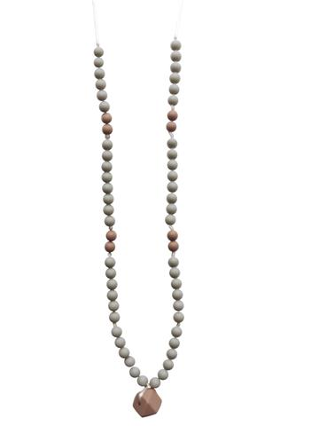 Chewable Charm - The Sheppard - Grey Teething Necklace