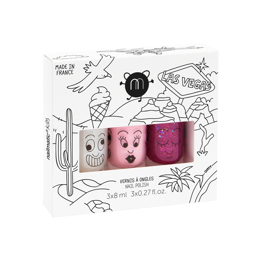 Nailmatic Water Based Nail Polish - Las Vegas Set