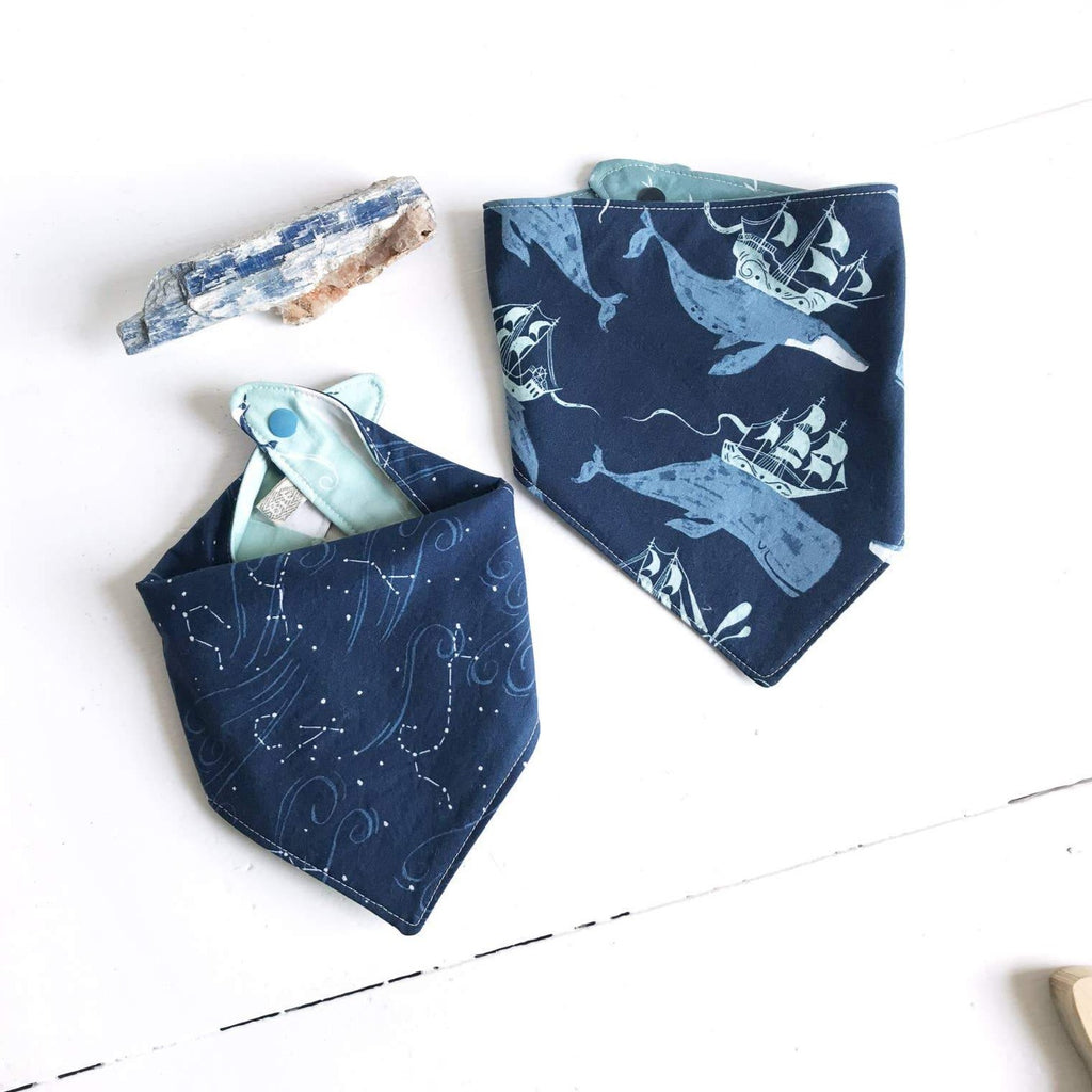 The Bird & Elephant - Navy Nautical Bandana Bib