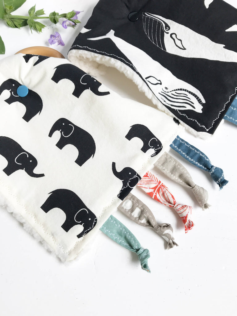 The Bird & Elephant - Large High Contrast Crinkle Toys