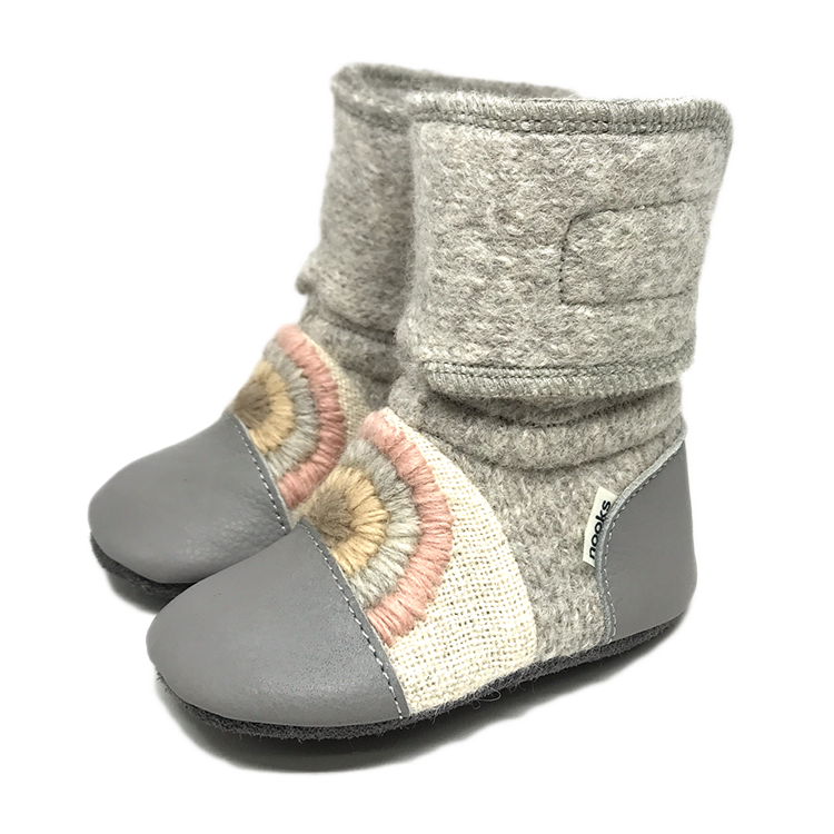Nooks Design - Rainbow Moon Felted Wool Booties