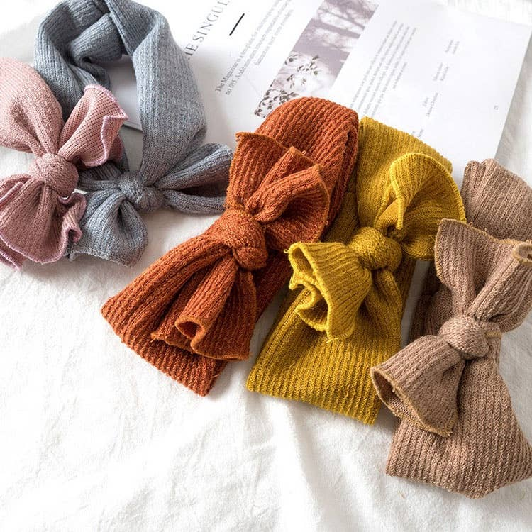 BRITTs. BOWs - Ribbed Knit Baby Head Wrap