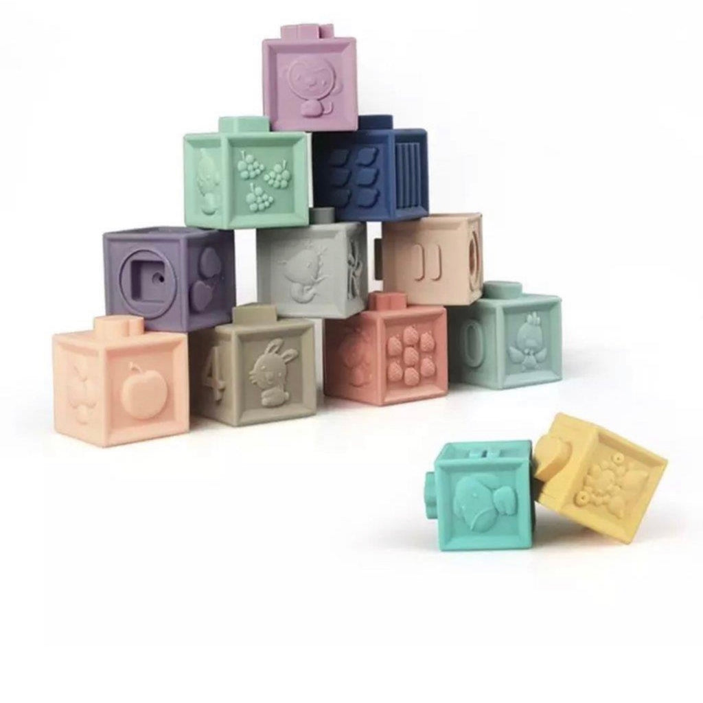 Silicone Building + Learning Blocks