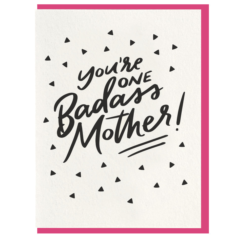 Dahlia Press - Badass Mother - Letterpress Card
