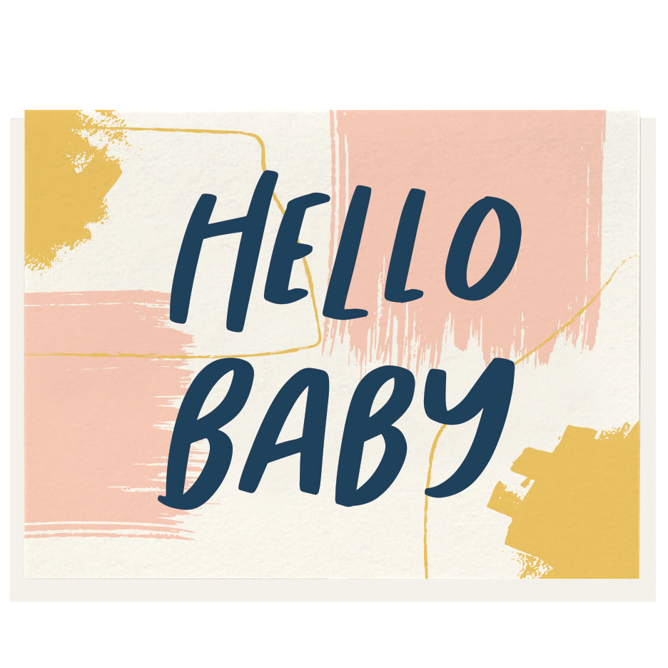 Dahlia Press - Hello Baby - Letterpress Card