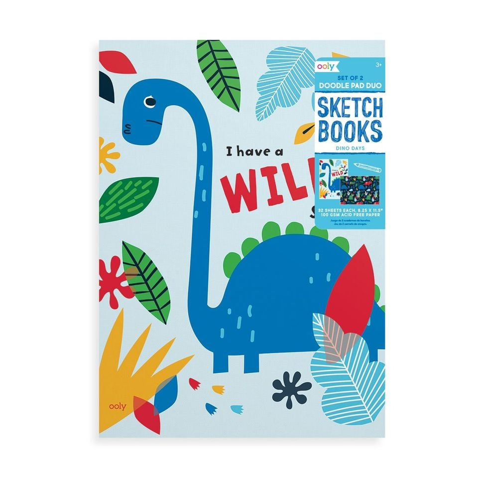 Ooly Doodle Pad Duo Sketchbooks: Dino. Days - Set of 2