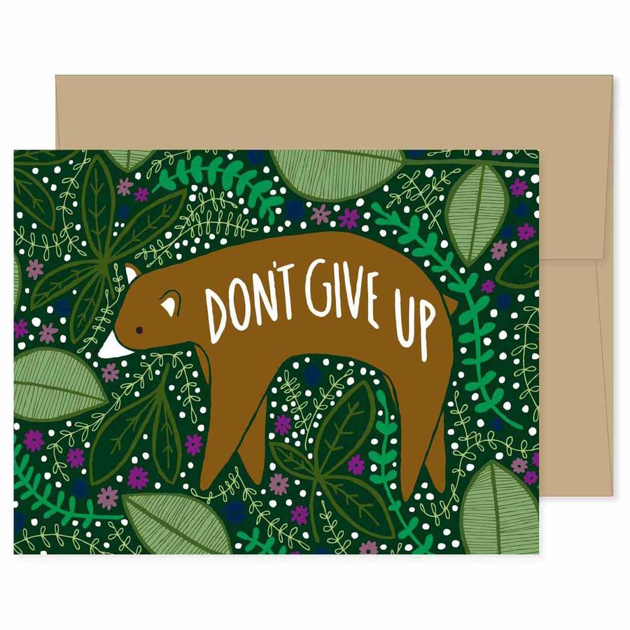 Gingiber - Don't Give Up Bear Card