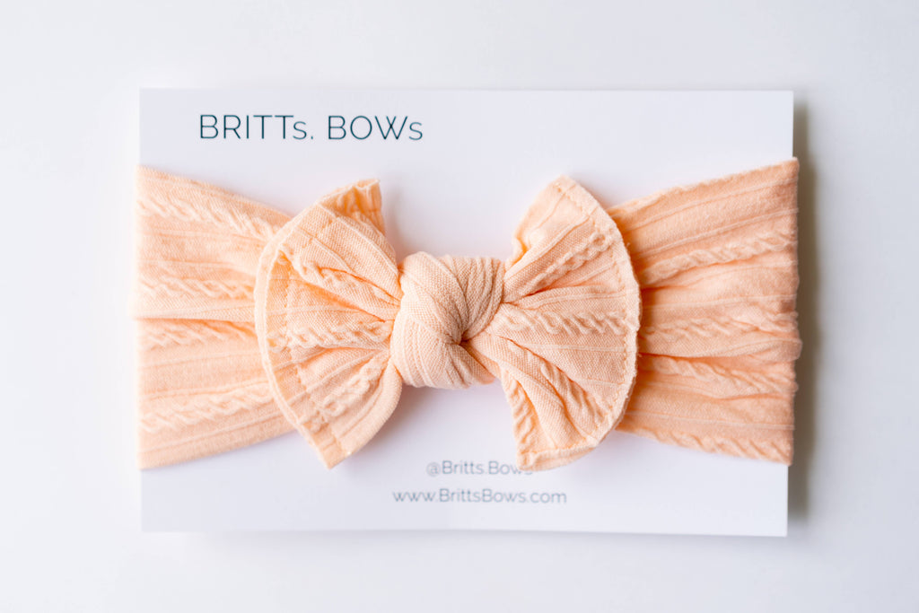 BRITTs. BOWs - White Cable Knit Headband