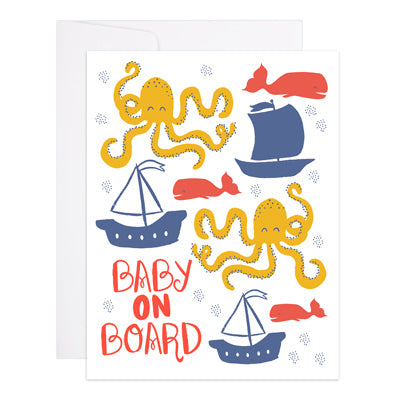 9th Letter Press - Baby on Board