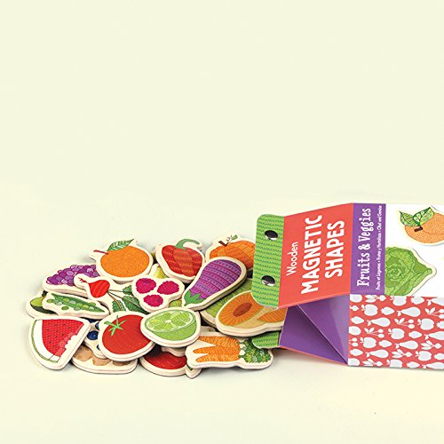 Fruits & Veggies Wooden Magnetic Shapes