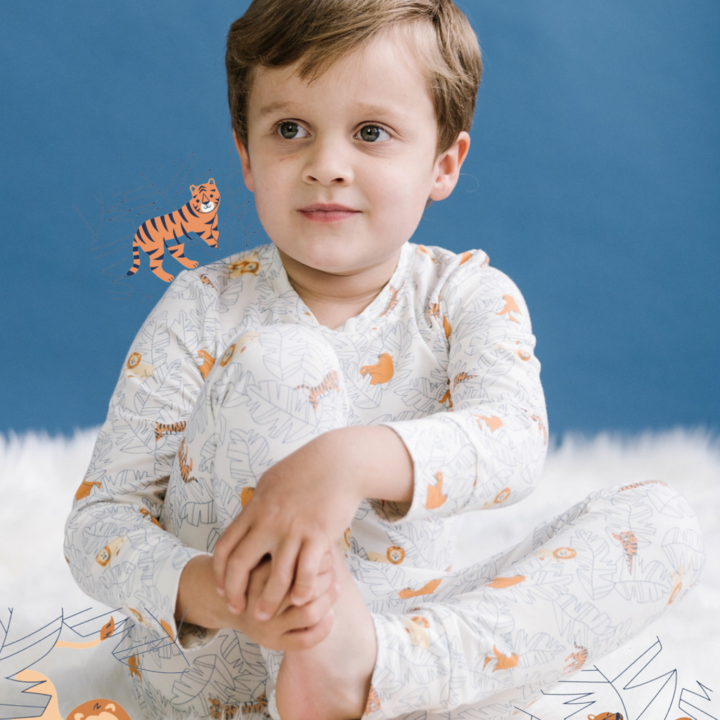 Lions Tigers & Bears Two Piece PJ/Lounge Set