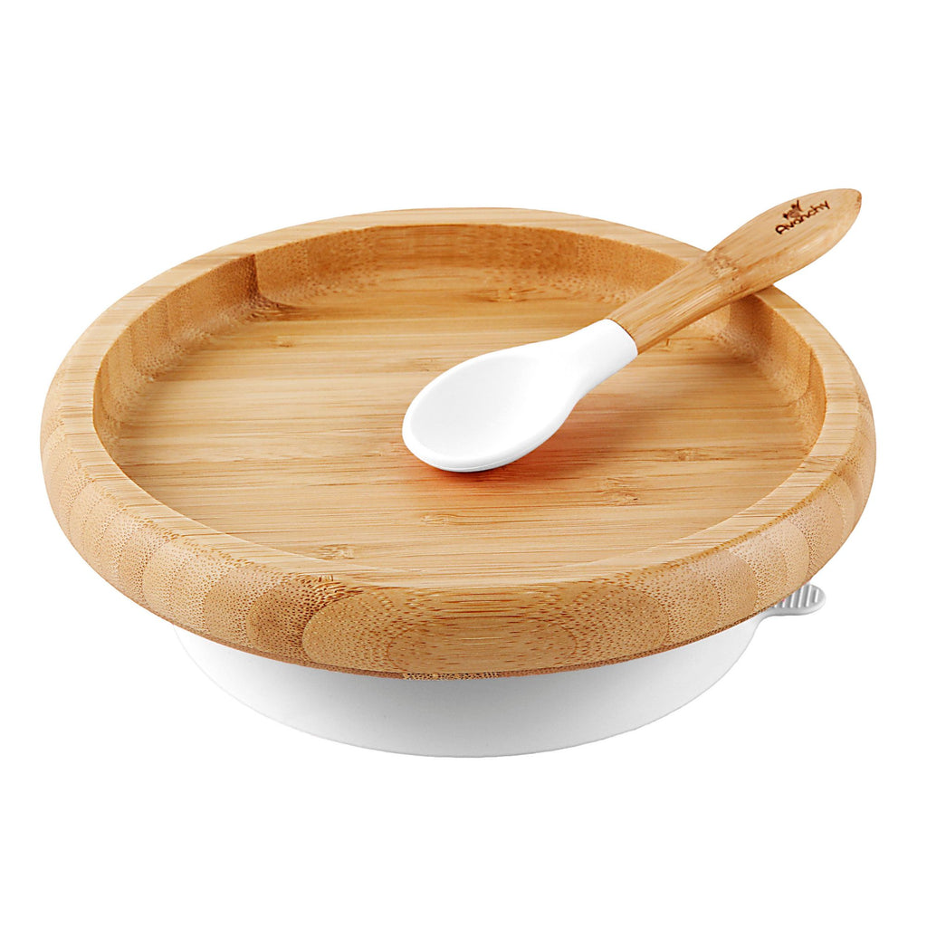 Avanchy - Avanchy Bamboo Suction Classic Plate + Spoon