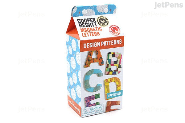 Cooper Hewitt Design Patterns Wooden Magnetic Uppercase Letters