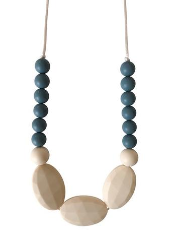 Chewable Charm - The Hudson - Gray Teething Necklace