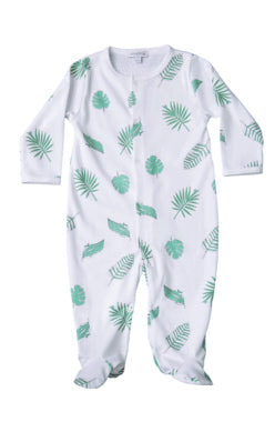 Baby Noomie - Green Leaves Snap Footie