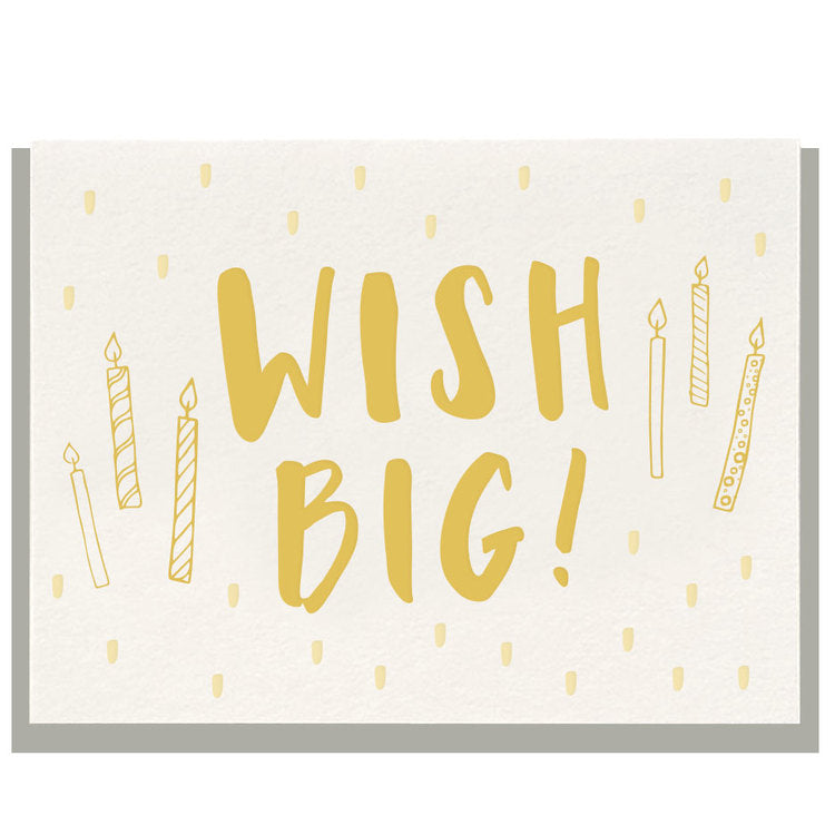 Dahlia Press - Wish Big - Letterpress Card