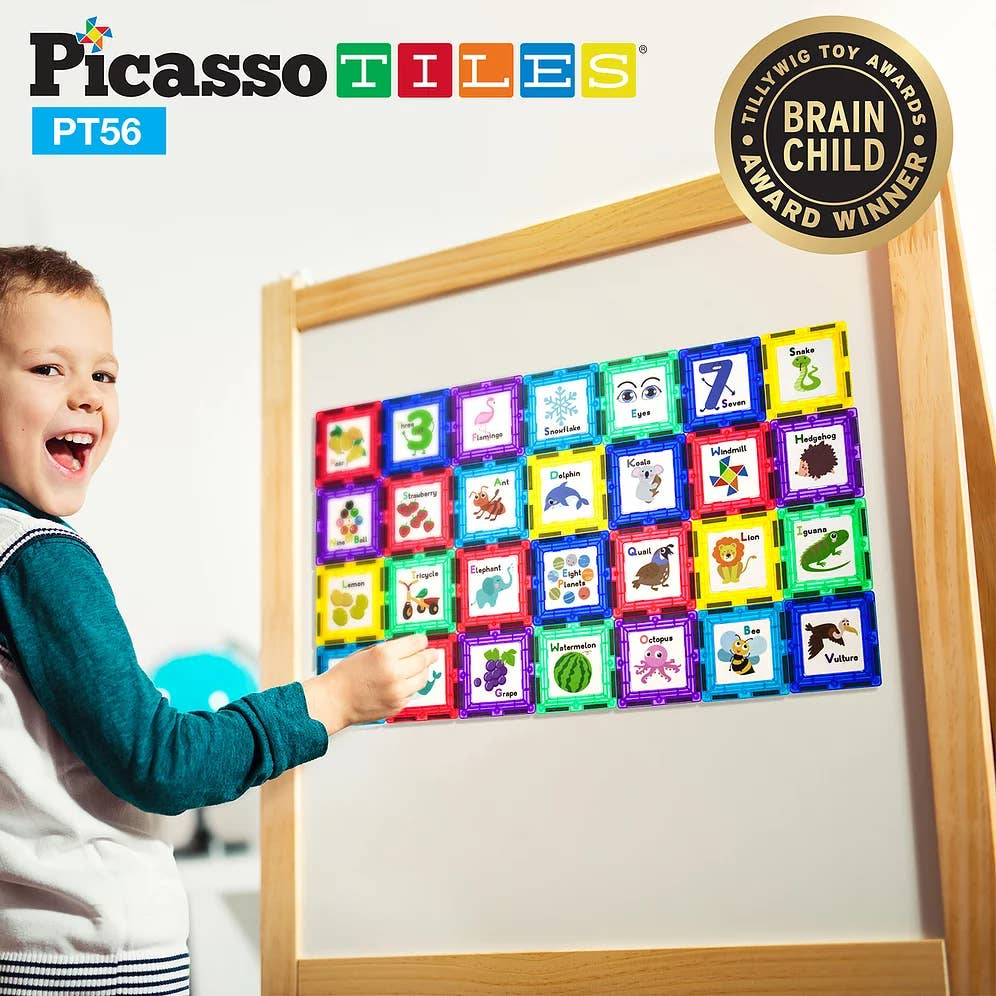 PicassoTiles - 56 Piece Set with 28 Piece Artwork