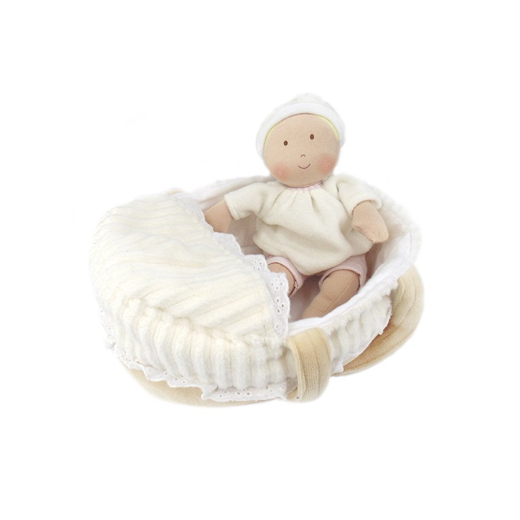 Bonikka Dolls - Carry Cot Baby with Bottle & Blanket
