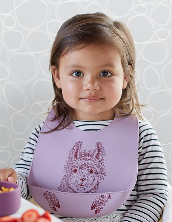 Mini-Twist Silicone Bucket Bib - Mama Llama
