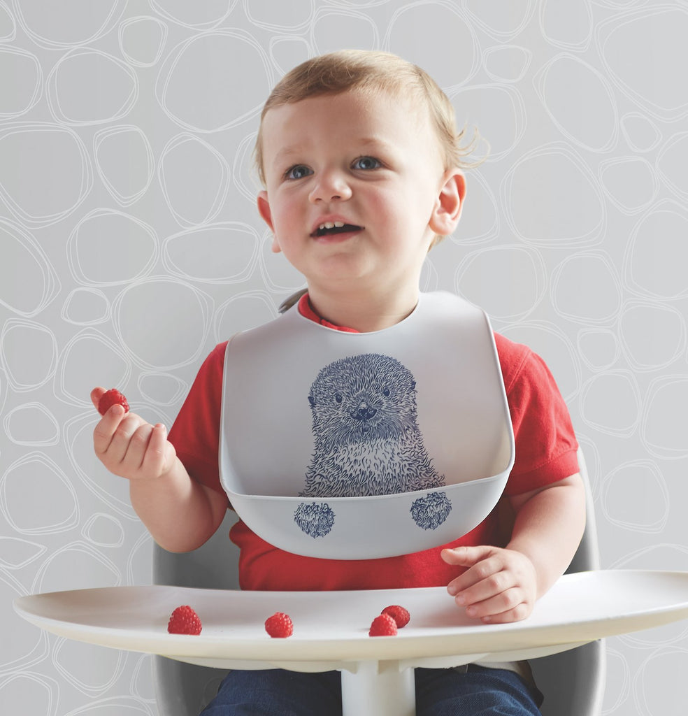 Mini-Twist Silicone Bucket Bib - Curious Otter