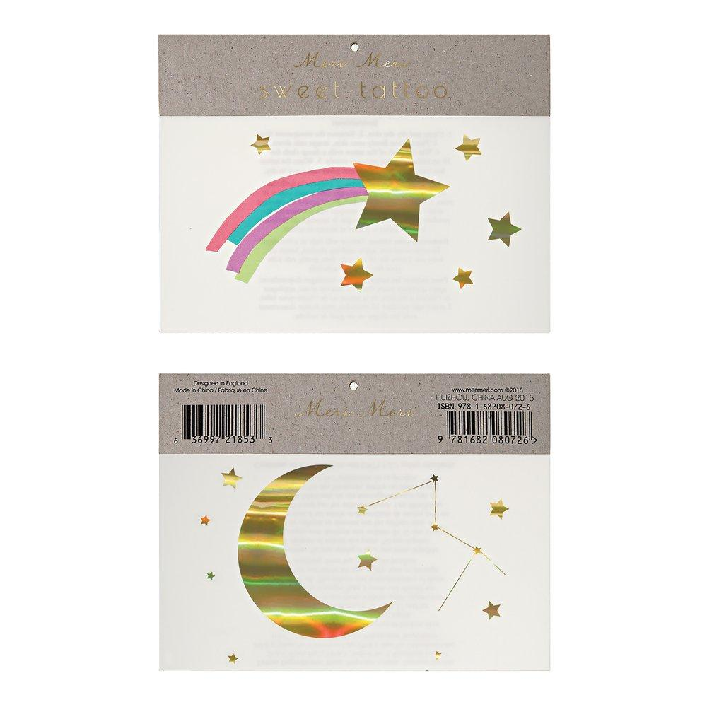 Rainbow Shooting Star Large Tattoos