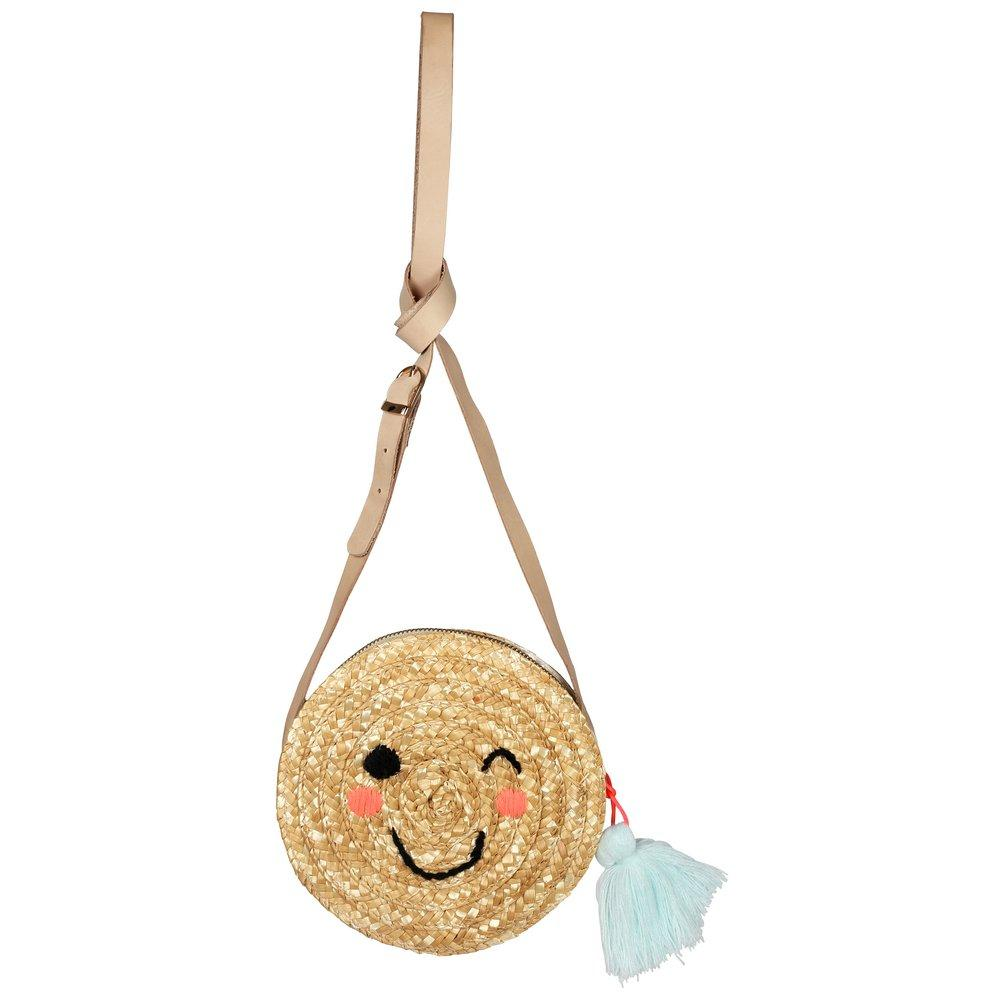 Emoji Cross Body Straw Bag