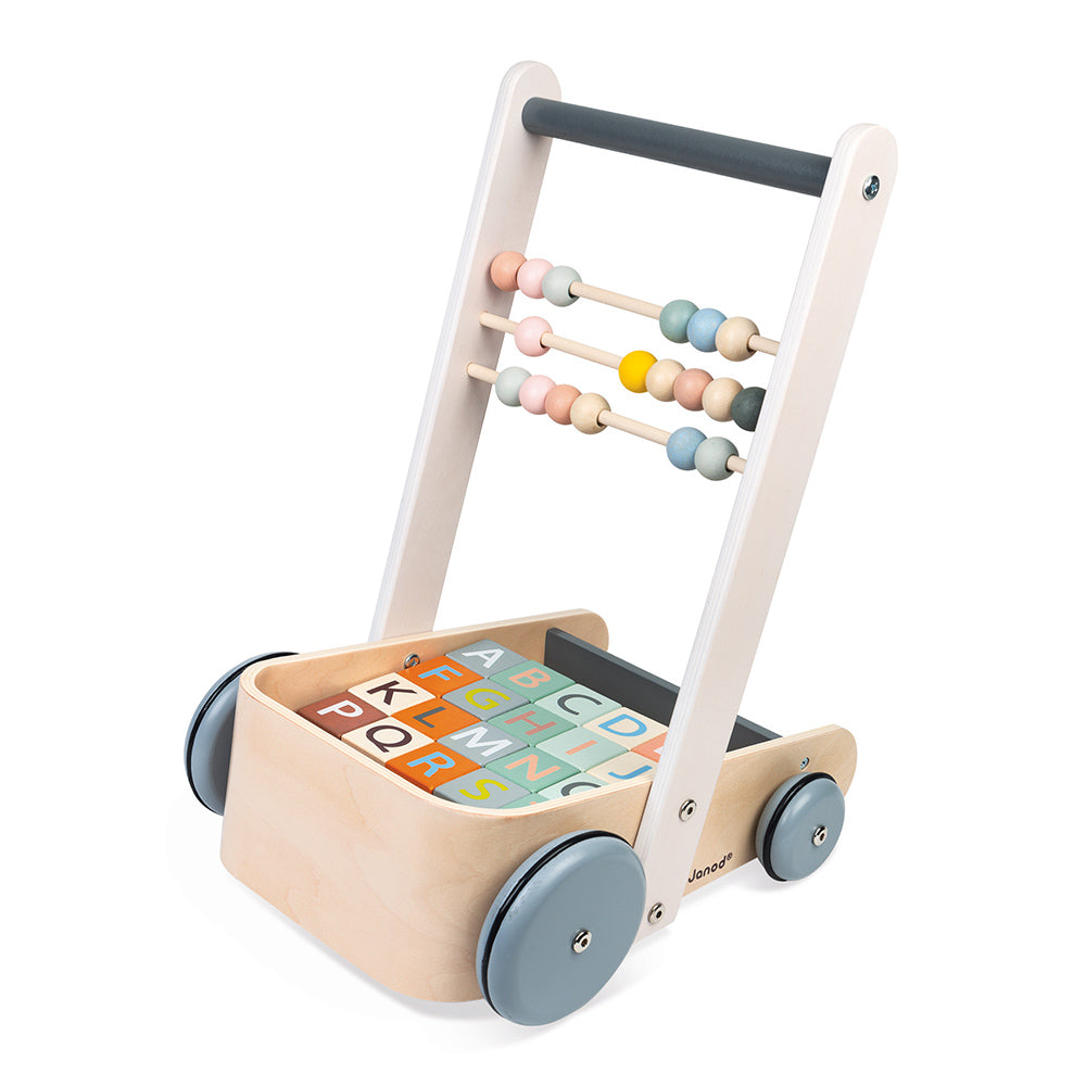 Cart with ABC Blocks - Sweet Cocoon
