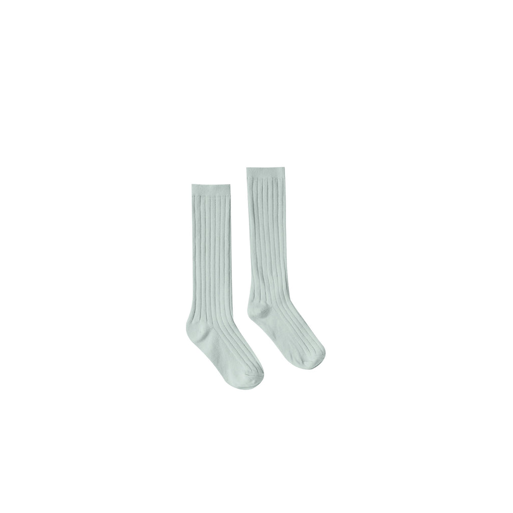 Rylee + Cru Solid Knee Socks - Seafoam