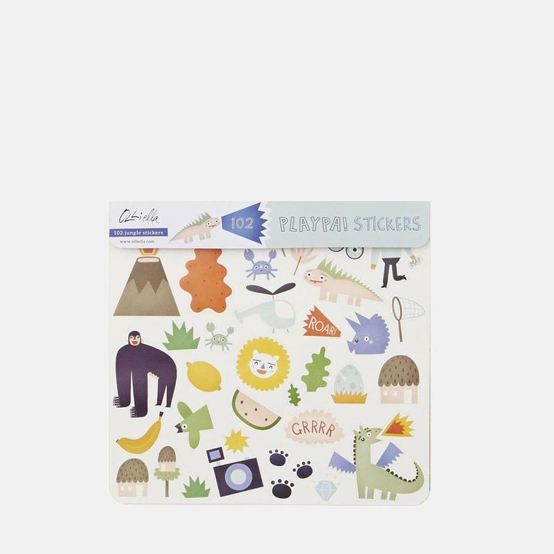 Olli Ella Playpa Stickers - Jungle