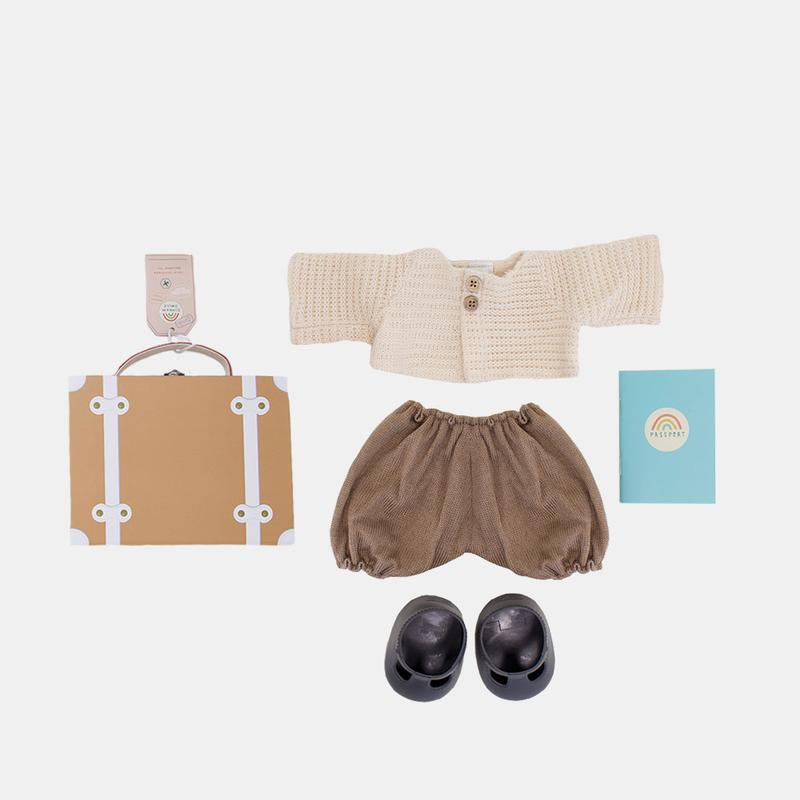 Olli Ella Dinkum Doll Travel Togs - Rust