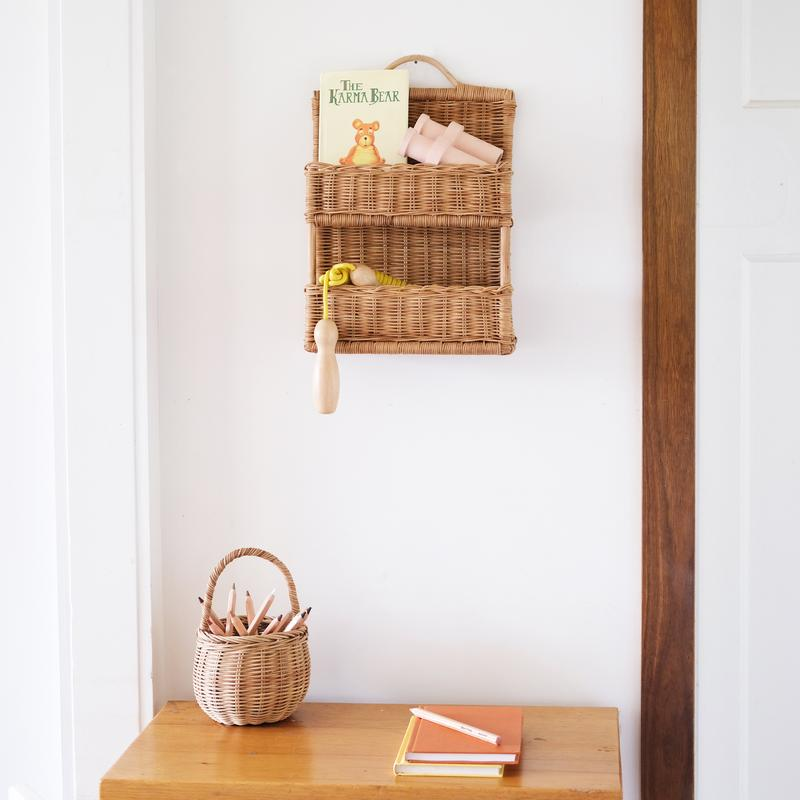 Olli Ella Rattan Hello Hanging Shelf