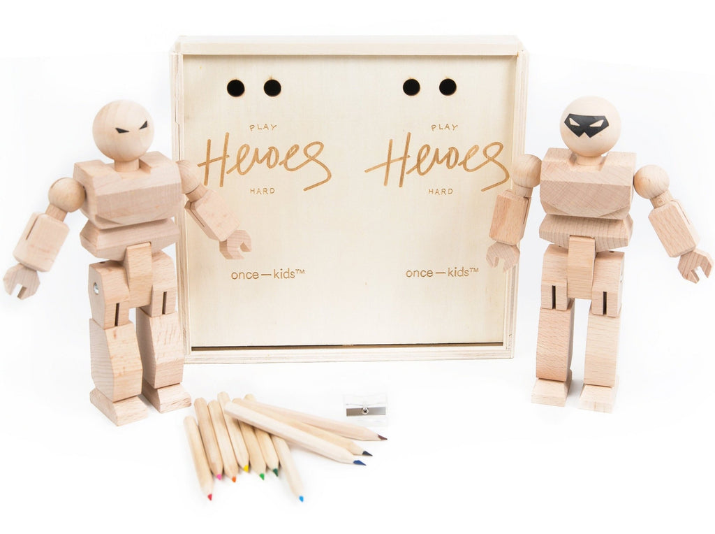 Playhard Heroes 2 Piece DIY with Color Pencils